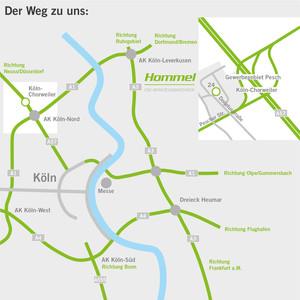 Anfahrt Köln Hommel Gruppe