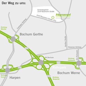 Anfahrt Bochum Hommel Maschinentechnik