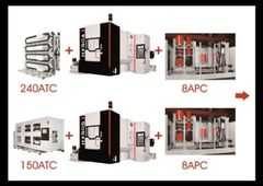 CNC-Bearbeitungszentrum Quaser HX504 - 8-fach Palettenwechsler